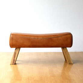 ベンチ おしゃれ 木製 革 レザー アンティーク 長椅子 チェア 腰掛け 玄関 ナチュラル 天然素材 本革 天然木 リビング インテリア シンプル ナチュラル レザーとウッドのベンチ