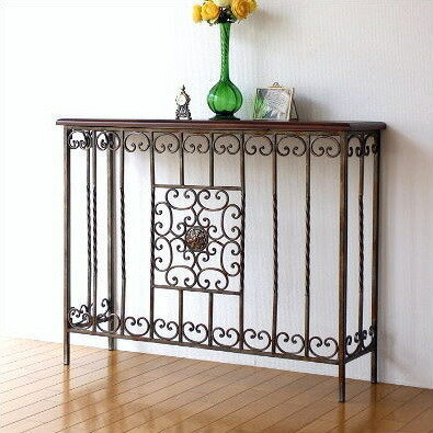 Elegant Console Table Wooden Iron Classic Antique Style Console Table  Antique Flower Stand Console Iron Furniture Antique Furniture Console Table  Iron And ...