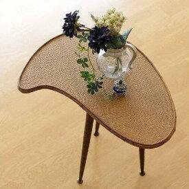 サイドテーブル ラタン アジアン おしゃれ デザイン 花台 小物置き インテリア エスニック ナチュラル アイアン 3本脚 ミニテーブル コンパクトテーブル ラタンパレットサイドテーブル