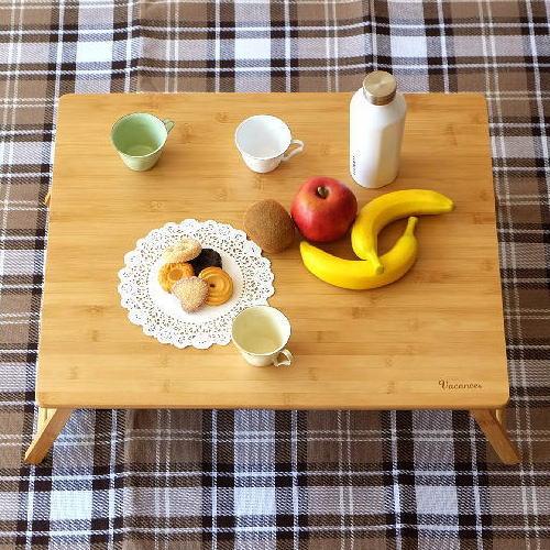 折りたたみテーブル バンブー 竹製 おしゃれ ローテーブル コンパクトテーブル ミニテーブル キャンプ ピクニック アウトドア 折り畳みテーブル フォールディングテーブル ナチュラル シンプル 四角 スクエア 角丸 折り畳みバンブーテーブル L