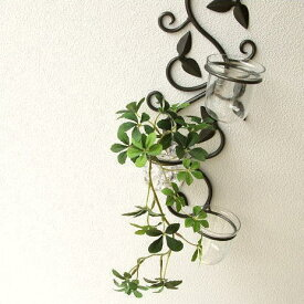 花瓶 壁掛け花瓶 花器 アイアン ガラスベース 花器 フラワースタンド 花入れ 花瓶 フラワーポット 壁掛け花器 フラワーベース 壁掛け花瓶 インテリア ガラスの花瓶 ウォールベース 壁掛けフラワーベース3カップ