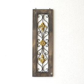 壁飾り アートパネル 壁掛け インテリア ウォールアート 壁面飾り 玄関 リビング アンティーク レトロ ウォールデコレーション アイアンのウォールデコ フレームB