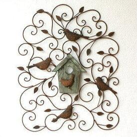 アイアン壁飾り 壁掛けインテリア リーフ 鳥 アイアン雑貨 ウォールデコレーション アートパネル 壁飾り ウォールアート 壁面飾り 壁飾り アイアン 壁掛けインテリア アートパネル ウォールアート おしゃれ 小鳥 アイアン雑貨 アイアンの壁飾り ウッドバードハウス