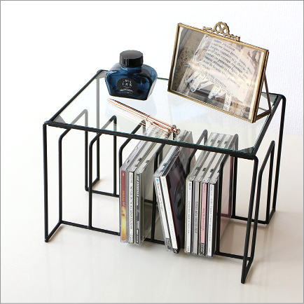 Glass Shelf CD Stand CD Rack Book Stand Industrial CD Storage CD Stand  Tabletop Iron Rack CD Rack Book Stand Industrial Iron Gadgets Desk Rack CD  Stand ...