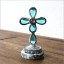 置物 置き物 ガラス アンティーク レトロ インテリアオブジェ 小さなガラスの置物 ブルー