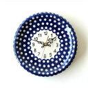 壁掛け時計 壁掛時計 掛け時計 掛時計 ポーランド陶器のウォールクロック
