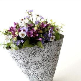 フラワーベース 花瓶 陶器 花器 おしゃれ アンティーク 花瓶 横長 口が広い フラワーベース 花入れ 花びん フラワーアレンジ 洋風 モダン かわいい デザイン 花瓶 インテリア フラワーベース 陶器のベース ドルチェスモール