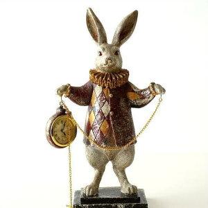 置き時計 置時計 おしゃれ アンティーク かわいい うさぎ 置物 雑貨 ウサギ オブジェ インテリア スタンドクロック 懐中時計 デザイン 小さい ミニ アナログ レトロ クラシック エレガント