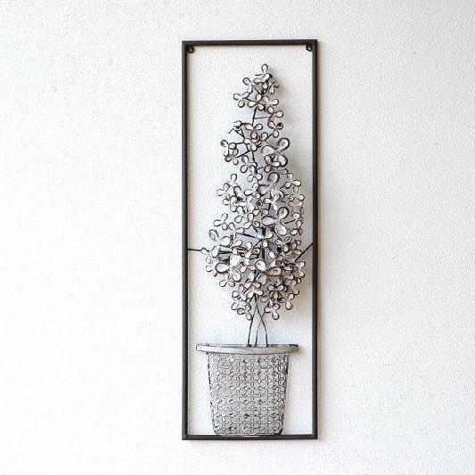 壁飾り アイアン アンティーク モダン アートパネル ウォールデコレーション おしゃれ 壁掛け インテリア 花 ウォールアート 壁面 飾り ウォールディスプレイ レトロ デザイン アイアンの壁飾り ホワイトフラワー