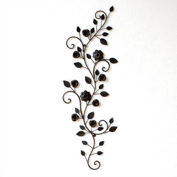 アイアン壁飾り ウォールデコレーション アートパネル 壁掛け インテリア ウォールパネル オブジェ ナチュラル おしゃれ 植物 デザイン ウォールディスプレイ 壁面飾り アイアンの壁飾り ローズバイン