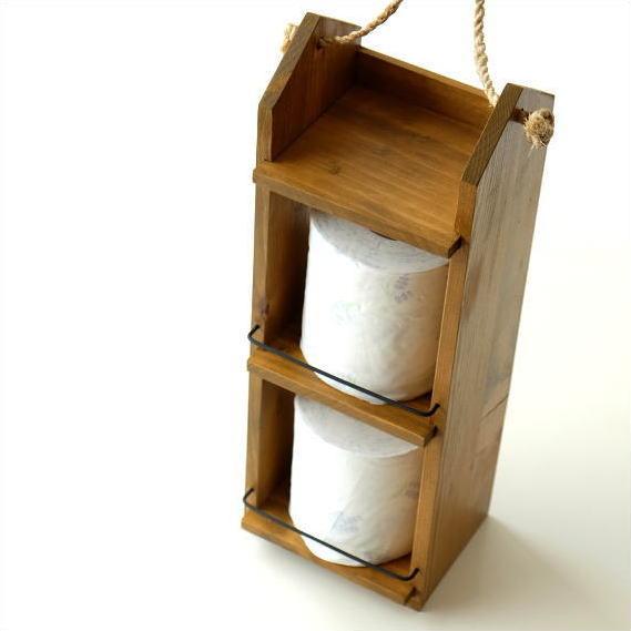 ミニシェルフ キッチン収納 スパイスラック サニタリー ウッドシェルフ 木製 収納棚 整理棚 整理ラック トイレットペーパーラック ストッカー かわいい おしゃれ シンプル ナチュラル カントリー ディスプレイラック 飾り棚 2段 ロープ付きウォールラック