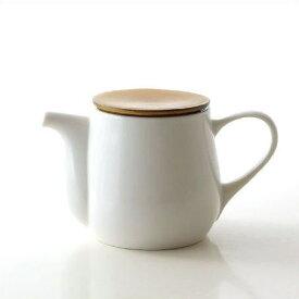 ティーポット 白 陶器 おしゃれ 茶こし付き 急須 和風 洋風 モダン 無地 かわいい シンプル デザイン 美濃焼 日本製 カフェ 紅茶 陶芸 焼き物 ビコポット