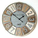 壁掛け時計 壁掛時計 掛け時計 掛時計 大きい 直径80cm アンティーク ヴィンテージ おしゃれ 木製 天然木 スチール レトロ デザイン ウォールクロック ...