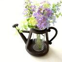 フラワーベース ガラス 花瓶 一輪挿し アイアン 鉄製 可愛い おしゃれ 花挿し 花入れ デザイン 小さい ミニ アンティーク レトロ ナチュラル インテリア 雑貨 アイアンポットのミニベース
