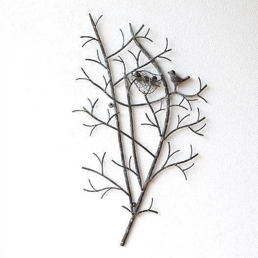 壁飾り アイアン おしゃれ ナチュラル ブランチ 木 枝 鳥 雑貨 かわいい 壁掛け インテリア ウォールディスプレイ 壁面 装飾 飾り ウォールアート リビング 部屋 玄関 ウォールパネル ウォールデコ アイアンの壁飾り バードネスト