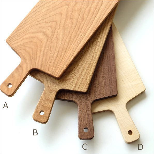カッティングボード 木製 まな板 日本製 長い 50cm ロング おしゃれ 天然木 木目 ハードメープル ナラ チェリー ウォルナット ロングカッティングボード4タイプ