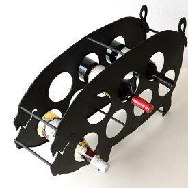 ワインホルダー おしゃれ ワインラック アイアン 7本 収納 アンティーク ブタ デザイン メタルピッグワインホルダー