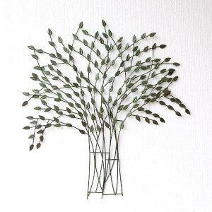 壁飾り アイアン おしゃれ ツリー 木 葉っぱ リーフ デザイン ナチュラル レトロ アンティーク モダン 壁掛け インテリア ウォールデコ 壁 ディスプレイ アイアンの壁飾り そよ風ツリー