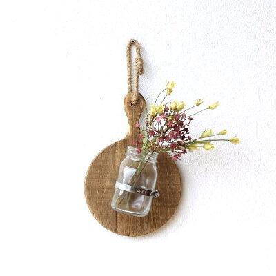 フラワーベース 花瓶 壁掛け ガラス 木製 おしゃれ 壁掛け インテリア ウッドとガラスの壁掛ベース サークル|ROOM - 欲しい! に出会える。