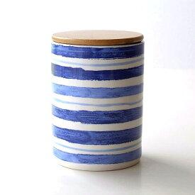 キャニスター 陶器 保存容器 おしゃれ ストッカー 小物入れ ふた付き フタ付 陶器のキャニスター C