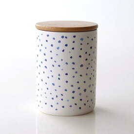 キャニスター 陶器 保存容器 おしゃれ ストッカー 小物入れ ふた付き フタ付 陶器のキャニスター B