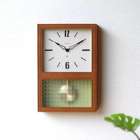 振り子時計 掛け時計 壁掛け時計 おしゃれ 木製 クラシック レトロ モダン シンプル ナチュラル デザイン 四角 見やすい 日本製 クラシックな振り子時計 カフェブラウン