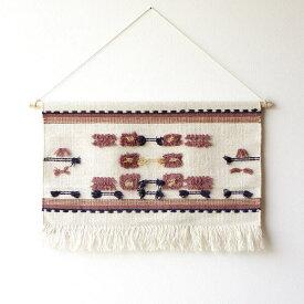 タペストリー おしゃれ 壁掛け 北欧 モダン 和風 和モダン ナチュラル 布 刺繍 吊り下げ ウォールタペストリーCABIN