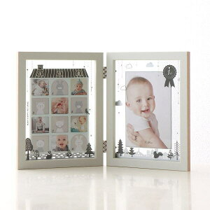 フォトフレーム ベビー 12ヶ月 赤ちゃん 卓上 写真立て かわいい 可愛い おしゃれ 北欧 複数 多面 12枚 12窓 1年 月齢 成長 記念 出産祝い ギフト プレゼント 贈り物 ティアラベビーフレーム モ