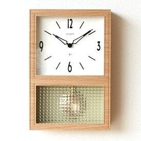振り子時計 掛け時計 壁掛け時計 おしゃれ 木製 クラシック レトロ モダン シンプル ナチュラル デザイン 四角 見やすい 日本製 オーク振り子時計