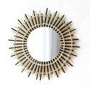 鏡 壁掛けミラー バンブー 竹 おしゃれ ナチュラル アジアン エスニック ウォールミラー 丸型 丸い 円形 サークル ラ…