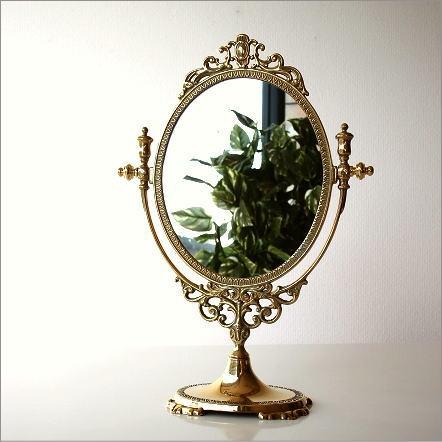 Made In Italy Brass Stand Mirror Desktop Mirror Table Mirror Antique  Dressing Stand Mirror Desk Miller Over A Elegant Interior Brass Stand Mirror  D