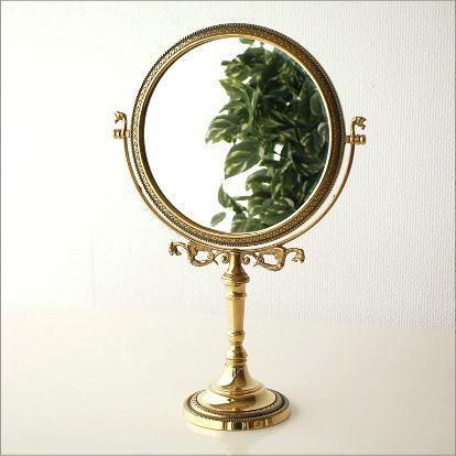 Made In Italy Brass Mirror Table Mirror Makeup Mirror Make Miller Standing  Mirror Elegant Stand Mirror Desktop Mirror Fashion Round Circle Round Mirror  ...