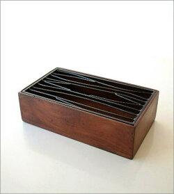 ティッシュケース木製アイアンおしゃれアンティーク風レトロティッシュカバーティッシュボックスモダンシンプルデザインアジアン雑貨アイアンティッシュケースボックスB