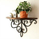 ウォールシェルフ アイアン 木製 壁掛け 棚 シェルフ おしゃれ インテリア 壁掛けラック ウォールラック アイアンとウ…