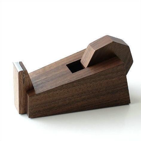 テープカッター 木製 ウォールナット おしゃれ シンプル デザイン 天然木 スタイリッシュ セロテープカッター セロハンテープカッター wedge テープカッター