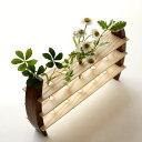 一輪挿し 木製 おしゃれ 花瓶 インテリア 花器 ガラス管 試験管 天然木 デザイン フラワーベース moon-5 フラワースタンド