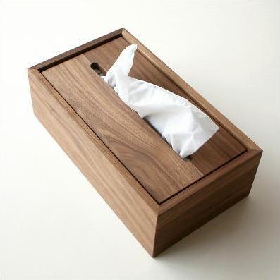 ティッシュケース 木製 おしゃれ 木 シンプル デザイン 無地 かっこいい ボックス ケース カバー 北欧 モダン ウォールナット かわいい 無垢 ティッシュカバー ティッシュボックスカバー 蓋付き ナチュラルウッドのティッシュボックス ウォルナット