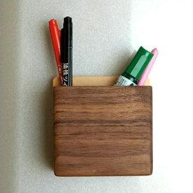 マグネット ペンスタンド ペン立て 壁掛け 壁付け 磁石 木製 天然木 ビーチ ウォールナット おしゃれ シンプル 省スペース ウォールポケット 玄関ドア 冷蔵庫 ペンたて マグネット・ペンポケット