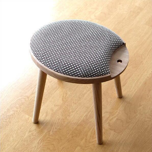 スツール 木製 おしゃれ オーク 天然木 無垢 椅子 チェア ナチュラル かわいい デザイン 生地 ファブリック 丸 楕円 連結 キャンディスツール