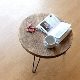 ちゃぶ台 折りたたみ 丸テーブル ローテーブル 木製 アイアン 天然木 幅50cm 丸型 円形 座卓 円卓 コンパクト ブラウン ウッド折り畳みテーブル ラウンド
