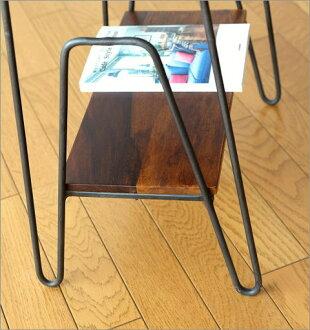hakusan  라쿠텐 일본: 사이드 테이블 나무 철 선반 선반 소파 옆 ...