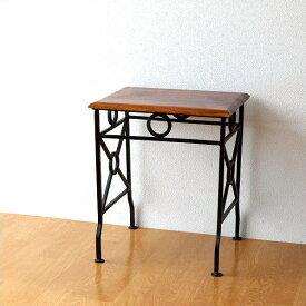 ネストテーブル サイドテーブル アイアン 木製 シーシャムウッド 天然木 無垢 おしゃれ モダン シンプル コンパクト アジアン ナチュラル アンティーク ネストテーブル コンソールS