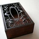 ティッシュケース おしゃれ 木製 ティッシュボックス ティッシュカバー アンティーク風 エレガント 北欧 かっこいい シンプル モダン レトロ アジアン クラシック ナチュラル 高級感 インテリア シ