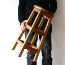 スツール チーク無垢材 天然木製スツール 丸椅子 カウンターチェアー バースツール カウンタースツール ウッドアジア…
