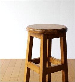 チークキッチンハイスツールチークアジアン家具椅子送料無料