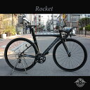 ROCKET(ロケット)【COLOR:MATTE BLACK】ROCKBIKES(ロックバイクス)アルミエアロロードバイク【ロックバイクスストア限定販売】【送料...