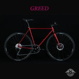 【1都3県送料2700円より(注文後修正)】GREED phase3 DEORE(グリードフェーズ3)【COLOR:GARNET RED】ROCKBIKES(ロックバイクス)27.5/650b採用クロモリクロスバイク【送料プランC】 【完全組立】