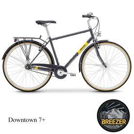 【1都3県送料2700円より(注文後修正)】BREEZER(ブリーザー)DOWNTOWN 7+(ダウンタウン7プラス)クロスバイク・街乗り自転車【送料プランC】 【完全組立】