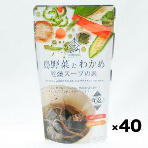 沖縄産 島野菜とわかめ 乾燥スープの素(62g)40個入