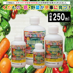 MK菌土壌活性液H-100 HIBIKI MAX 250ml 肥料 土壌改良 家庭菜園 農業用品